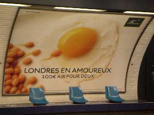 Eurostar advert Paris London